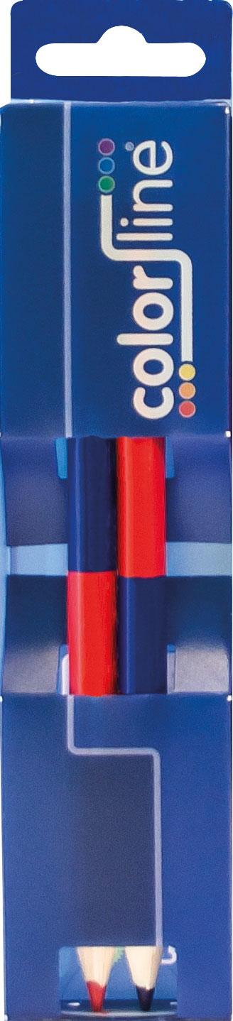 "DUO MARKER ""DUO 425"" 50% rood / 50% blauw - Ø 9,5 mm x 17,5 cm - per 2 stuks"