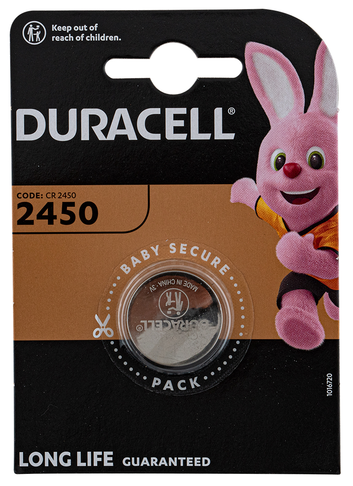 "Batterij Duracell ""Electronics"" - type CR-2450"