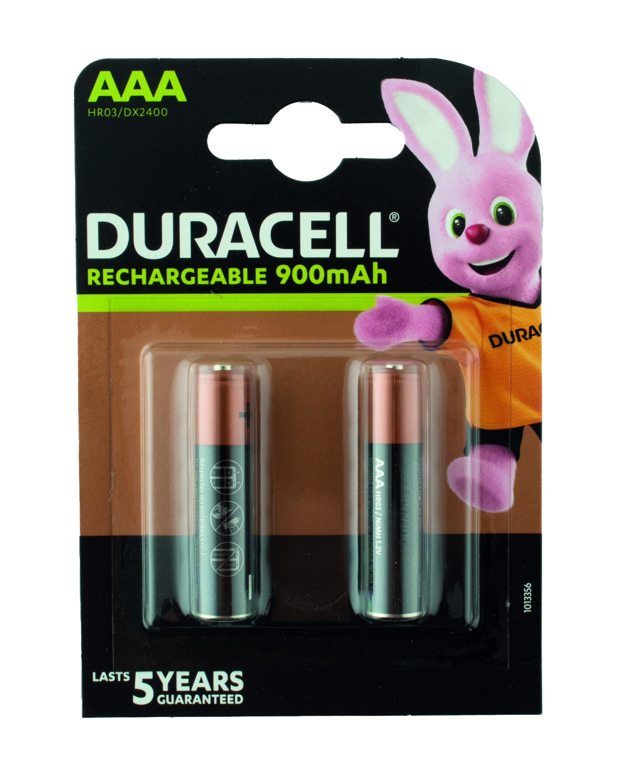 "Pile Duracell ""Rechargeable""- type AAA / HR03 - min. Cap. 2400 mAh"