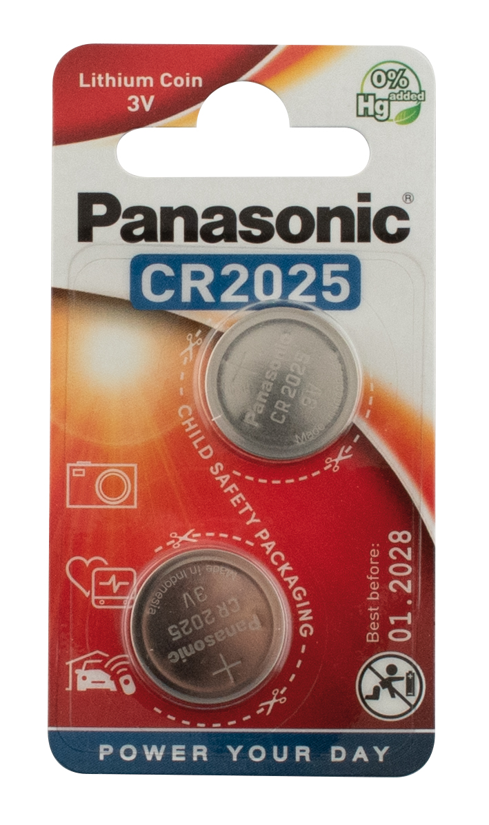 "Batterij Panasonic ""Lithium Power"" knoopcelbatterijen - type CR-2025"